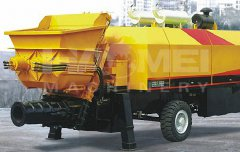 Two Hydraulic Concrete Pump Were Sent to Africa