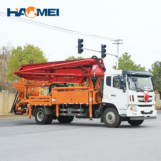 truck mounted concrete pump truck